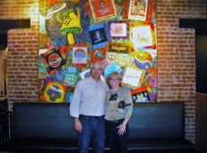 Through the help of my brother Kirby, Mellow Mushroom commissioned me to create this huge wall quilt for their new store opening.