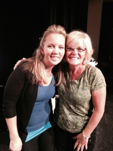 Posing for a picture with my amazing mentor Angela Walters.