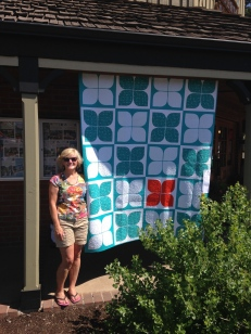 One of my quilts was exhibited at the Sisters Quilt Show 2014 in Sisters, Oregon.